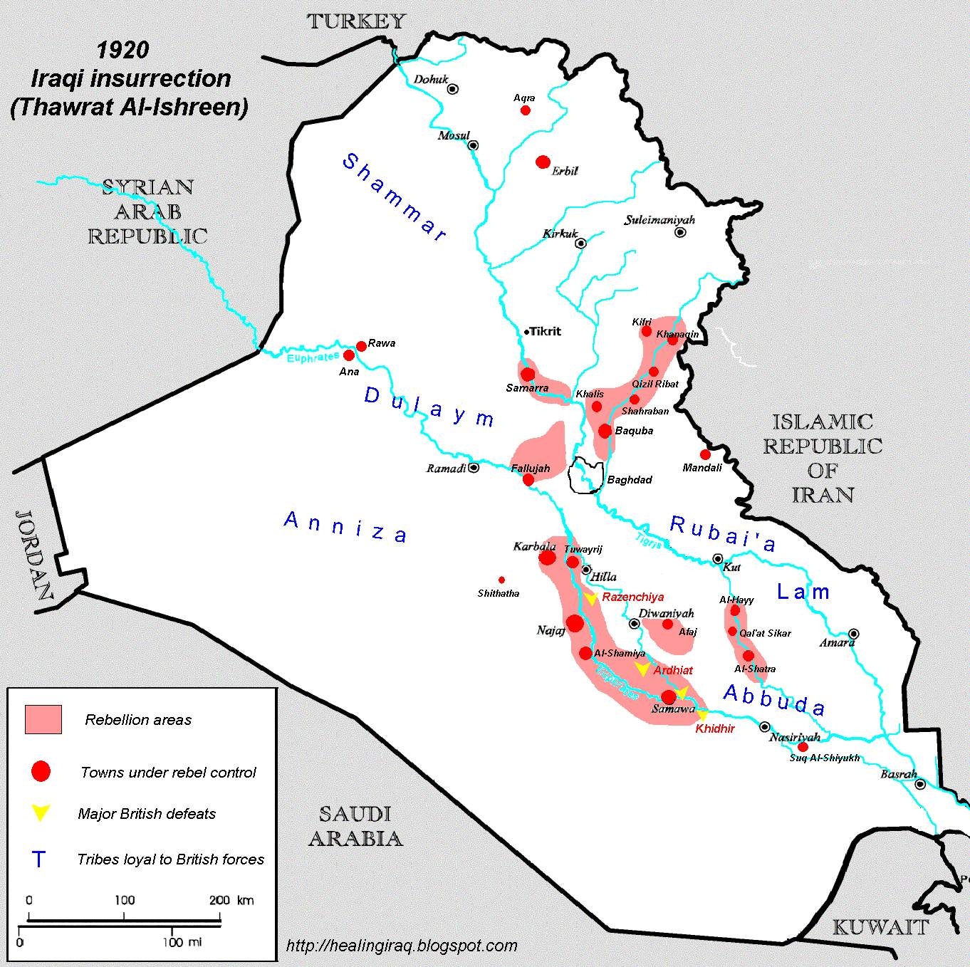1920 Iraqi Rebellion against the British
